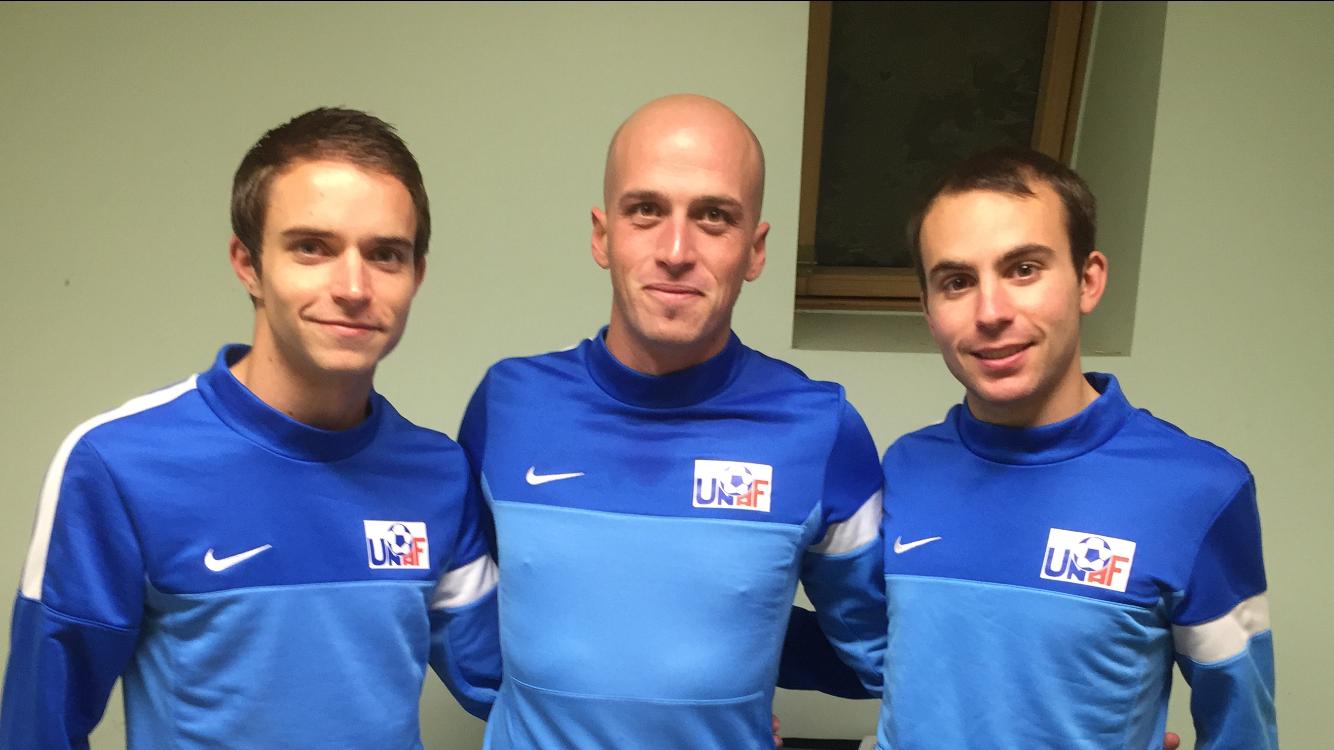 Matthieu, Fabien et Maxime préparent la rencontre